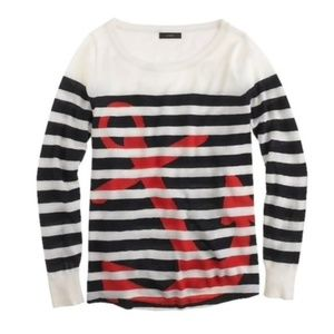 J. CREW Italian Cashmere Anchor Sweater